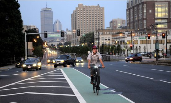 Attraverso Boston in bici