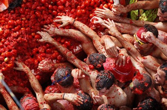 La battaglia dei pomodori