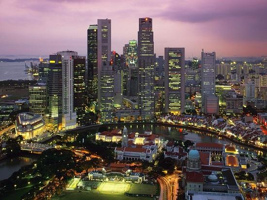 La città di Singapore