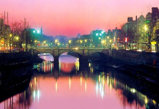 Splendida veduta di Dublino