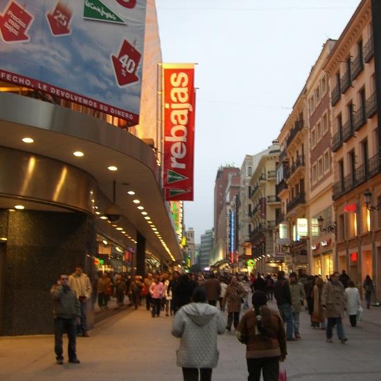 shopping a Madrid