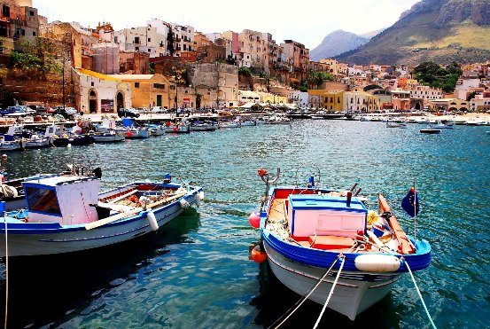 Barche di pescatori siciliani